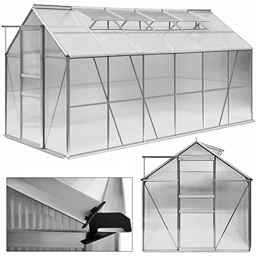Deuba Aluminium Gewachshaus 11 73m Treibhaus Gartenhaus Fruhbeet