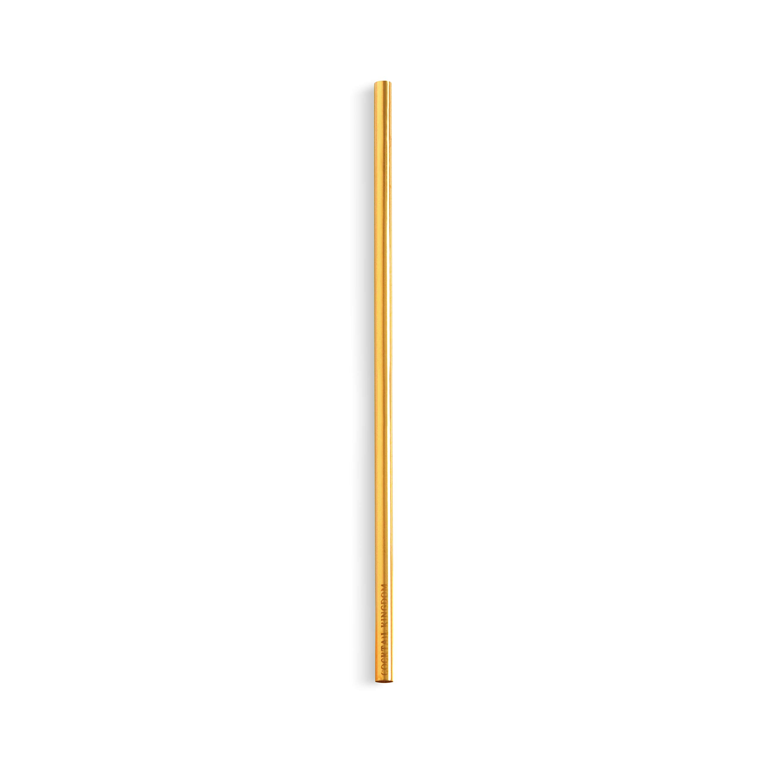 Cocktail Kingdom Steel Straw - Gold-Plated - 7.5in - Pack of 24 by Cocktail Kingdom