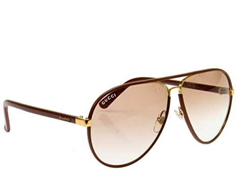 e02b8c8a4b6c4 Amazon.com  Gucci GG2887 S Sunglasses-0UYZ Cuir Leather (S6 Brown Gradient  Lens)-61mm  Shoes