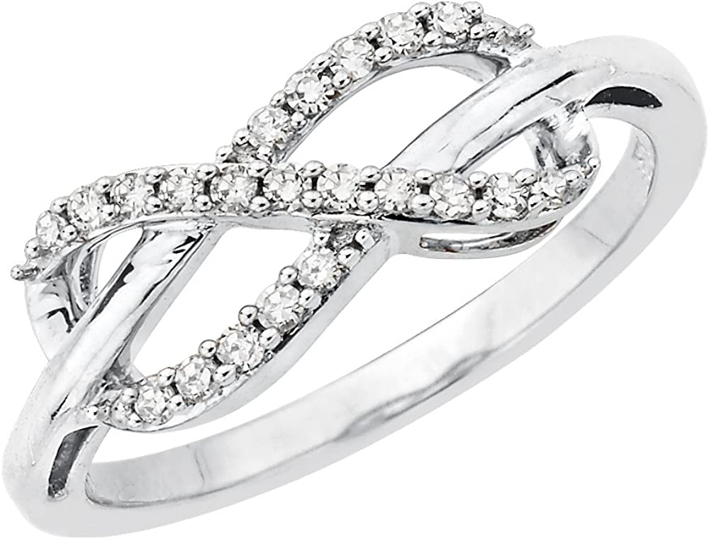 Size-7.25 1//20 cttw, 3 Diamond Promise Ring in Sterling Silver G-H,I2-I3