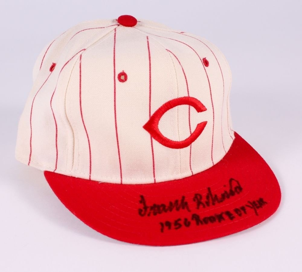 Frank Robinson Autographed Signed Reds New Era Hat Inscribed 1956 Rookie Of Year PSA/DNA Certified