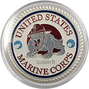 United States Marine Corps Militiary Challenge Coin Silver