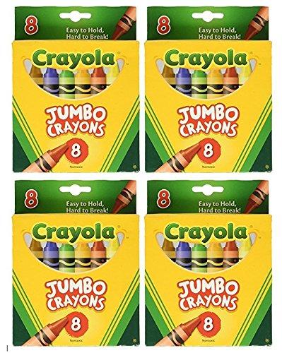 Crayola Jumbo Crayons 8ct Pack of 4