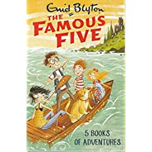 Enid Blyton FAMOUS FIVE (1 to 5) 5 Books Pack Set 1 2 3 4 5 RRP: £24.95 Collection (Five on Treasure Island, Five Go Adventuring Again, Five Run Away Together, Five Go to Smuggler's Top, Five Go Off in A Caravan) (FAMOUS FIVE)