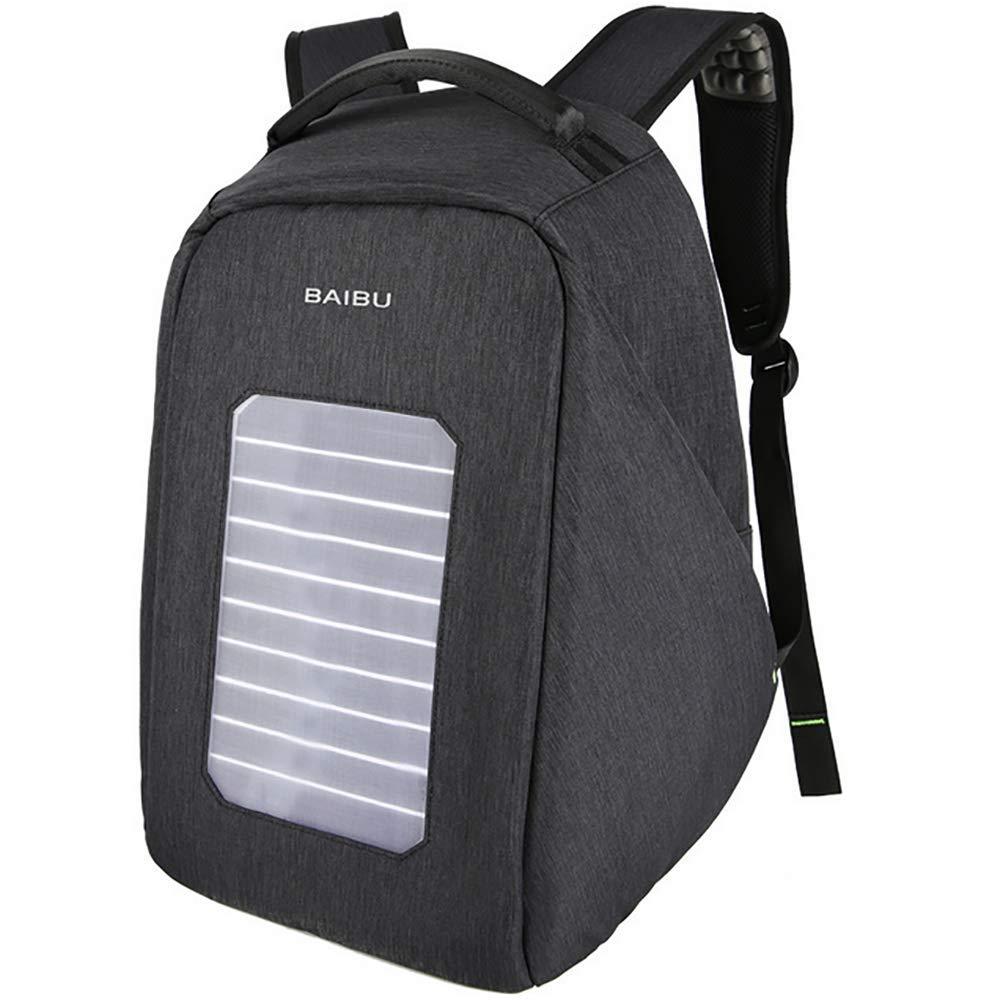 QCC&大容量ソーラーパワーハイキングデイパック 防水USBアウトドアバックパック ハイキング 旅行 サイクリング キャンプ用  A B07GRMJMXJ