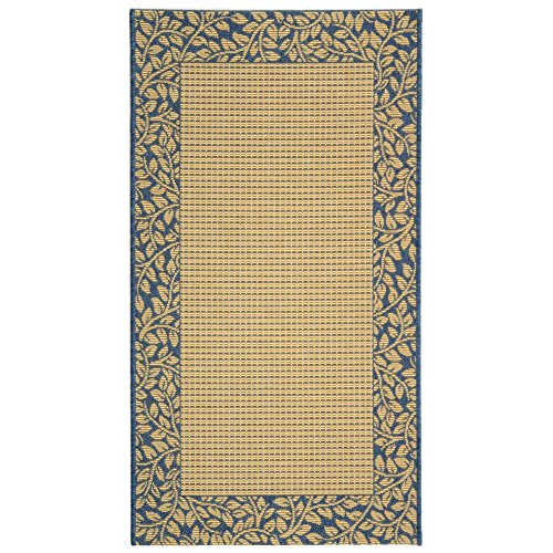 Safavieh Courtyard Collection CY0727-3101 Natural and Blue Indoor/Outdoor Area Rug (2'7″ x 5′)