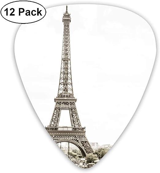 Cavdwa Eiffel Tower, Paris (Sepia Color) 12 púas de Guitarra ...