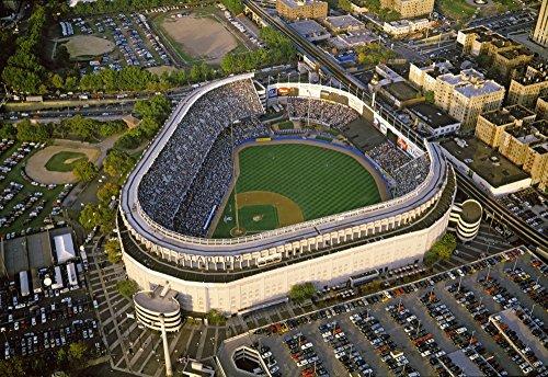 Aerial view of a baseball stadium Yankee Stadium New York City New York State USA Poster Print by Panoramic Images (24 x 18) (Aerial View Yankee Stadium)