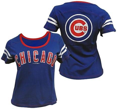 timeless design 5ce4c 3f3de Amazon.com : 5th & Ocean Chicago Cubs Women's Baby Jersey S ...