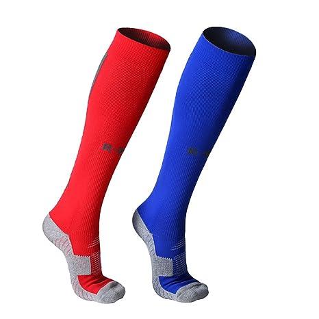 Calcetines de fútbol para hombres mujeres largas Calcetines deportivos de compresión Calcetines gruesos Calcetines de algodón