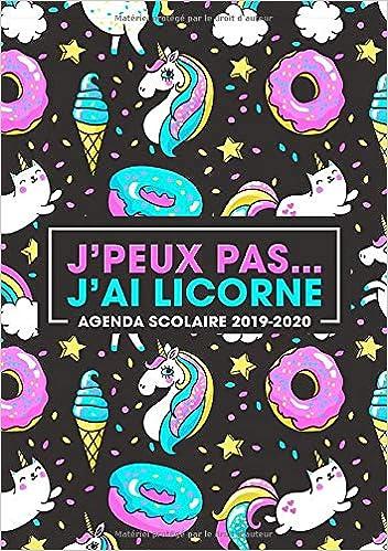 Amazon.com: Jpeux pas… jai licorne: agenda scolaire 2019 ...