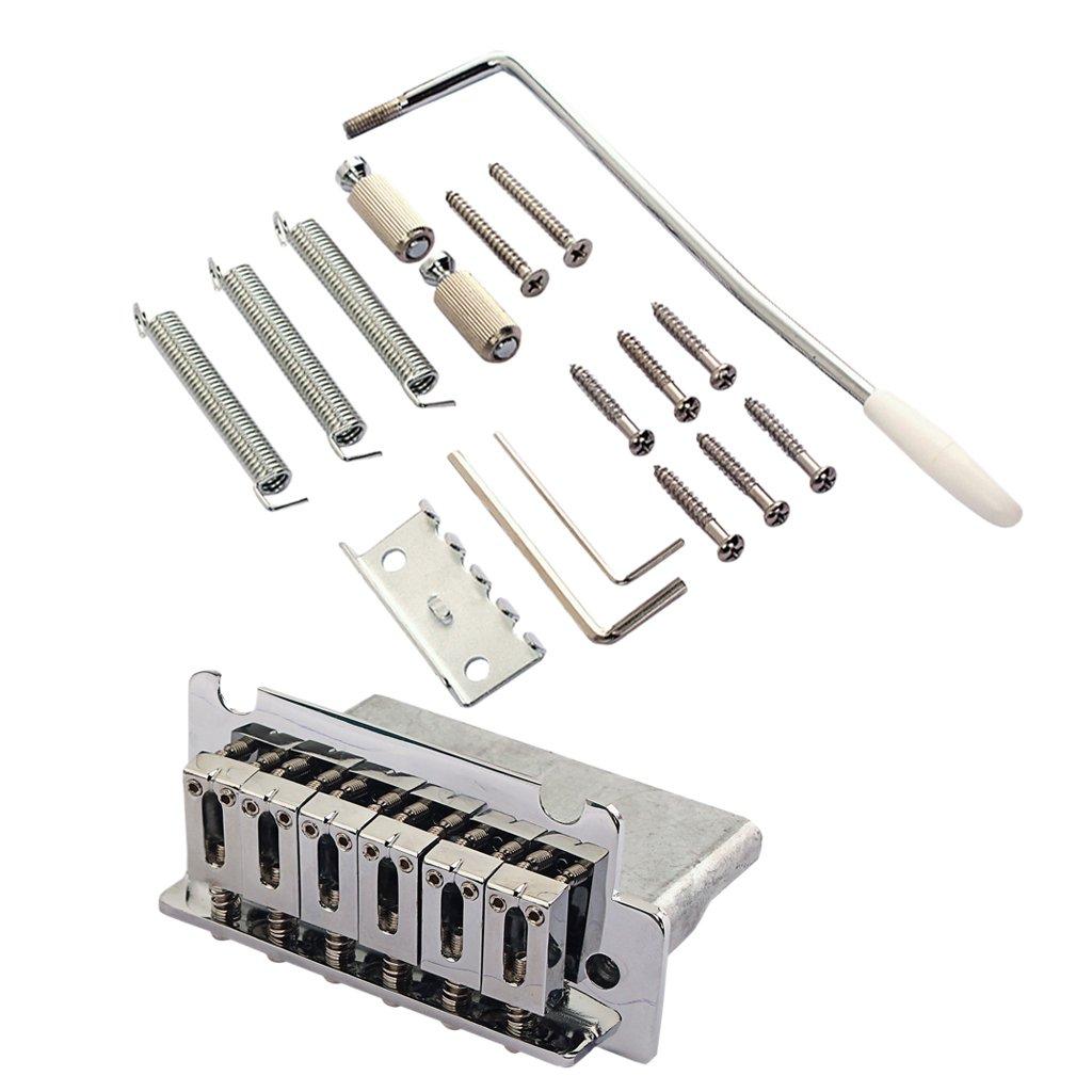 Dolity 6 Cuerdas Trémolo Puente Guitarra Eléctrica para parachispa Strat ST Partes de Reemplazo: Amazon.es: Instrumentos musicales