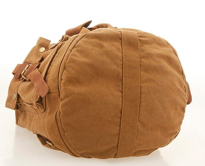 ff937911d S.C.Cotton Vintage Canvas Backpack Leather Messenger Book Bag Rucksack  Shoulder Bag Schoolbag Satchel Backpack Messenger Tote Bag For DSLR camera  And Tablet ...