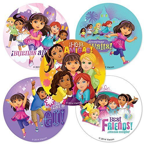 Dora & Friends Stickers - Birthday and Theme Party Supplies - 75 per Pack -