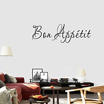 Wandaufkleber 3d Schlafzimmer Letter A Wall Decor Sticker Bou Appetit Quotes Greetings Dining Room Kitchen Restaurant