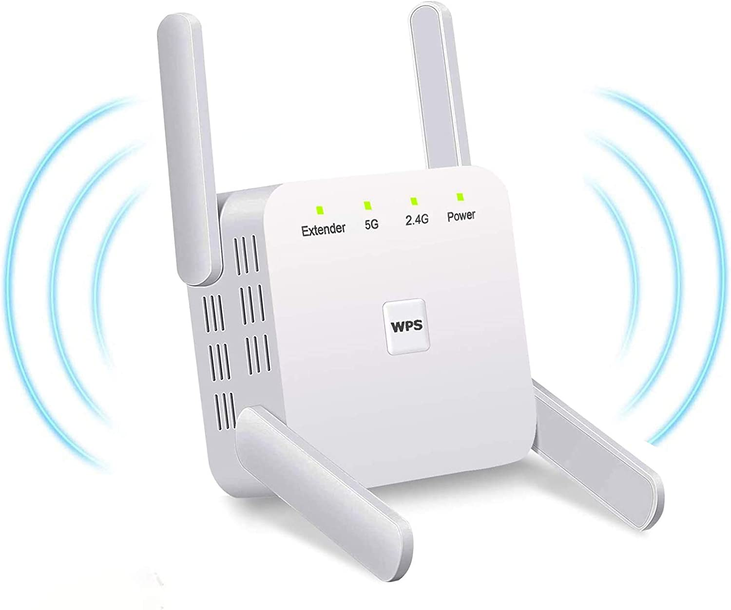 WiFi Extender 1200Mbps WiFi Booster Range Extender Dual Band 2.4GHz 5Ghz Wifi Extender Booster WiFi Range Extender with Ethernet Port Plug and Play UK Plug