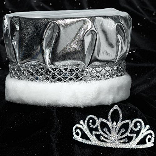 Regal Majestic Set, Metallic Silver Crown and 2 3/4 inch High -
