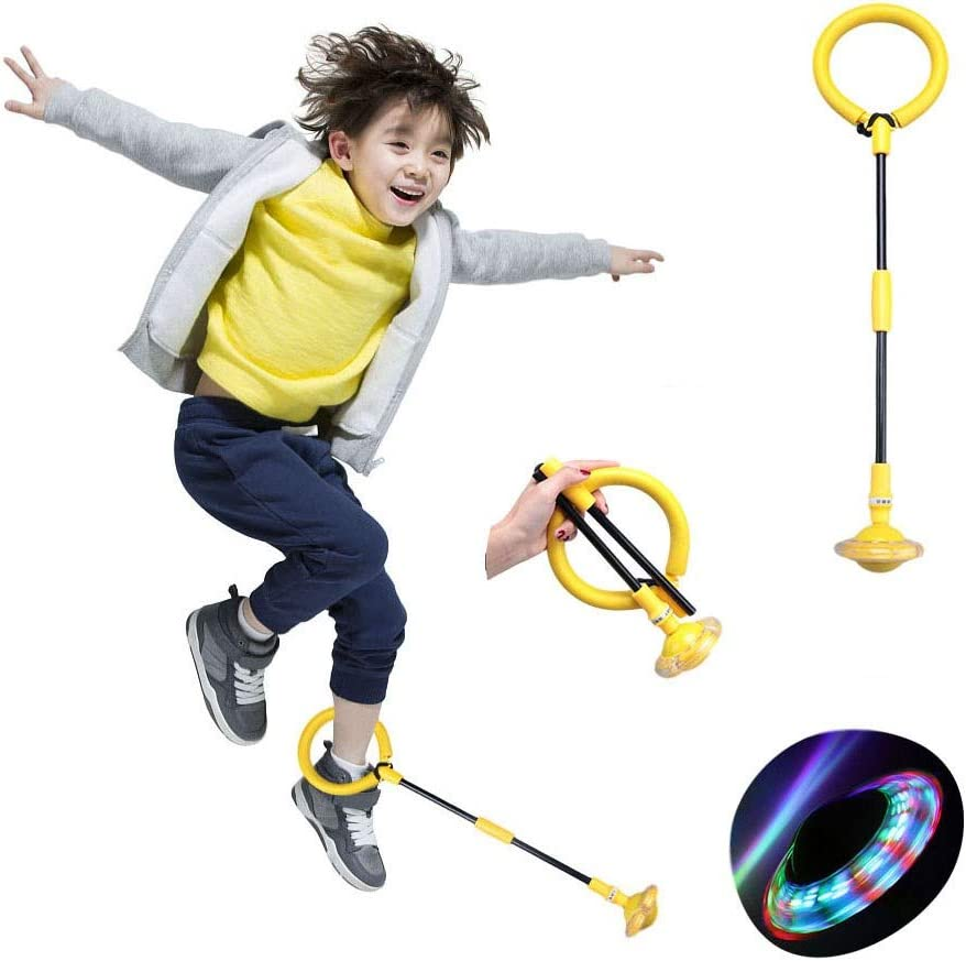 nobrand Foldable Children's Ankle Skip Ball Color Flashing Jumping Ring Kids Fitness Sport Jump Ball Toy