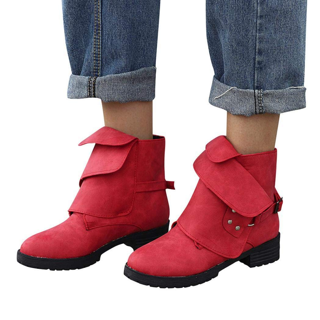 Gyoume Winter Calf Boots Shoes Women Buckle Boots Dress Shoes Knight Martin Boots Cowboy Shoes