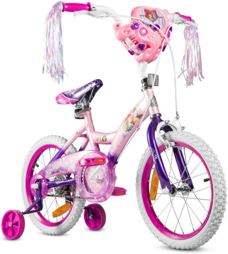 QXMEI Bicicleta para Niños Niña 12/14/16/20 Pulgadas Princesa Bicicleta De Tres Ruedas,12Inches: Amazon.es: Hogar