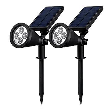 Double Eclairage Exterieur LED] Mpow Lampe Solaire Jardin IP65 ...