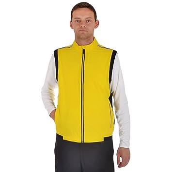 b16c2c1ac25b4 adidas Performance Mens ClimaProof Stretch Golf Wind Vest - Yellow ...