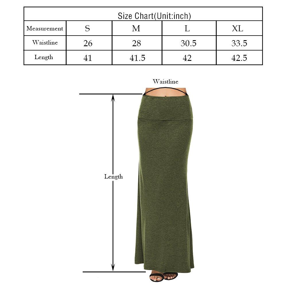 75276c964e YiLiQi Women's Fashion Multicolored Print Basic High Waist Maxi Skirt - Long  Skirt at Amazon Women's Clothing store: