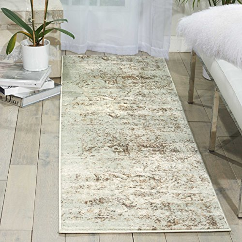 Nourison Euphoria EUP03 Traditional Rustic Vintage Grey Area Rug  2 Feet 2 Inches by 7 Feet 6 Inches, 2'2
