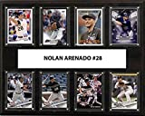 C&I Collectables MLB Colorado Rockies Men's Nolan Arenado 8-Card Plaque, Brown