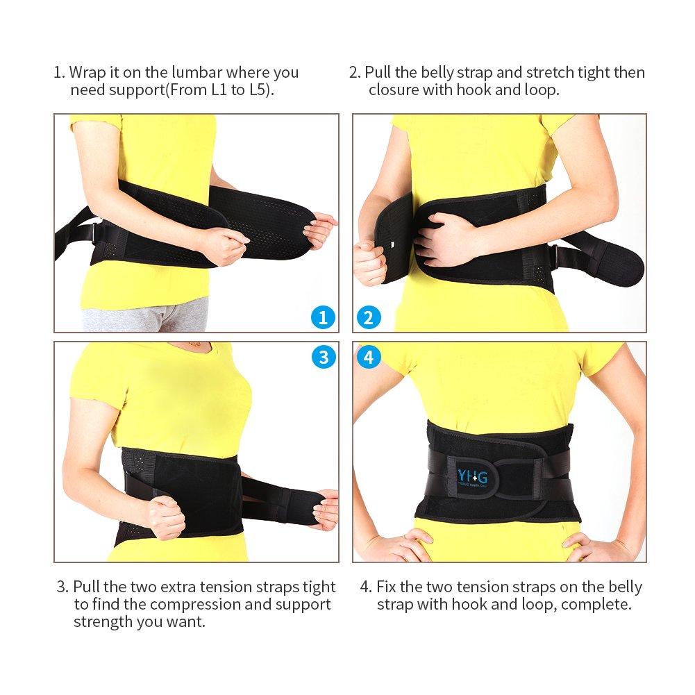 Amazon Adjustable Lumbar Support Belt Lower Back Brace Posture