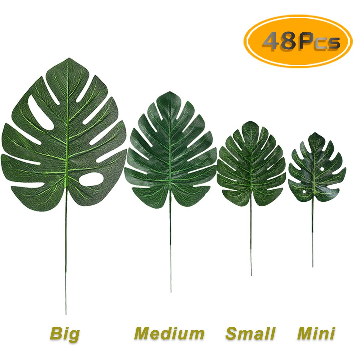 Buy Uplama 48pcs 4 Types Artificial Palm Leaves With Stems Tropical Plant Faux Monstera Safari Leaves Hawaiian Luau Party Suppliers Baby Shower Hawaiian Luau Safari Jungle Beach Flamingo Party Supplies Online At There is no sense in growing branches. types artificial palm leaves