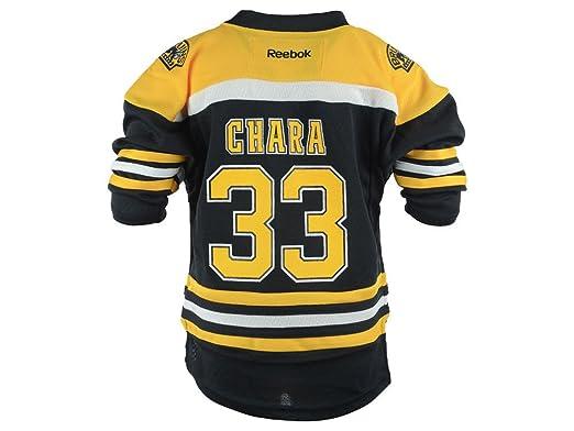 new product d9f77 d95bf Zdeno Chara Boston Bruins #33 Black Home Toddler 2T-4T Replica Jersey