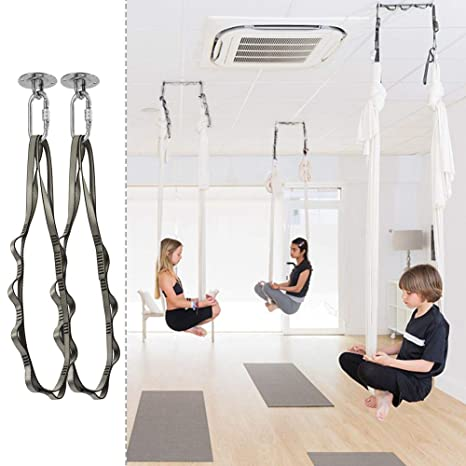 Amazon.com : Aerial Trapeze Yoga Swing Yoga Hammock 1100 LB ...