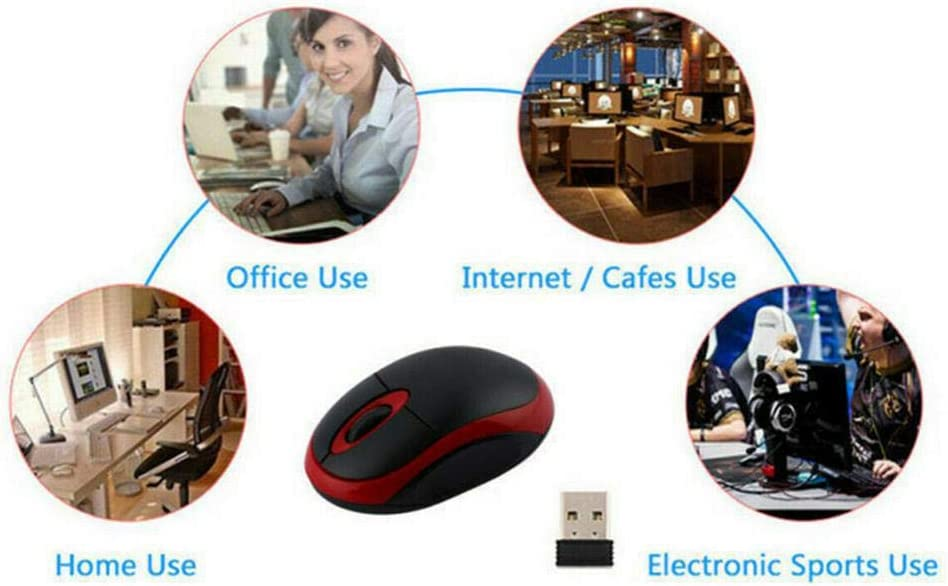 2.4GHZ 1600DPI Notebook Lightweight Optical Laptop Professional Wireless Mouse with USB Receiver Orange
