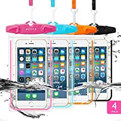 4 Pack Universal Waterproof Case FITFORT Cell Phone Dry Bag/Pouch for iPhone X 8