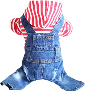 Denim Dog clothes outfit shirt small