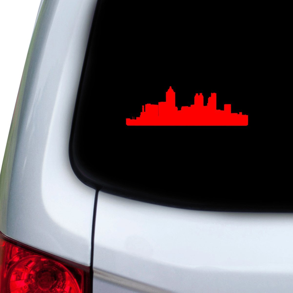 StickAny Car and Auto Decal Series Atlanta Skyline Sticker for Windows Red Doors Hoods