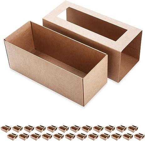 BAKIPACK Macaron cajas para 4 o 5 macarrones 25/10 paquetes de cajas de macarrón de