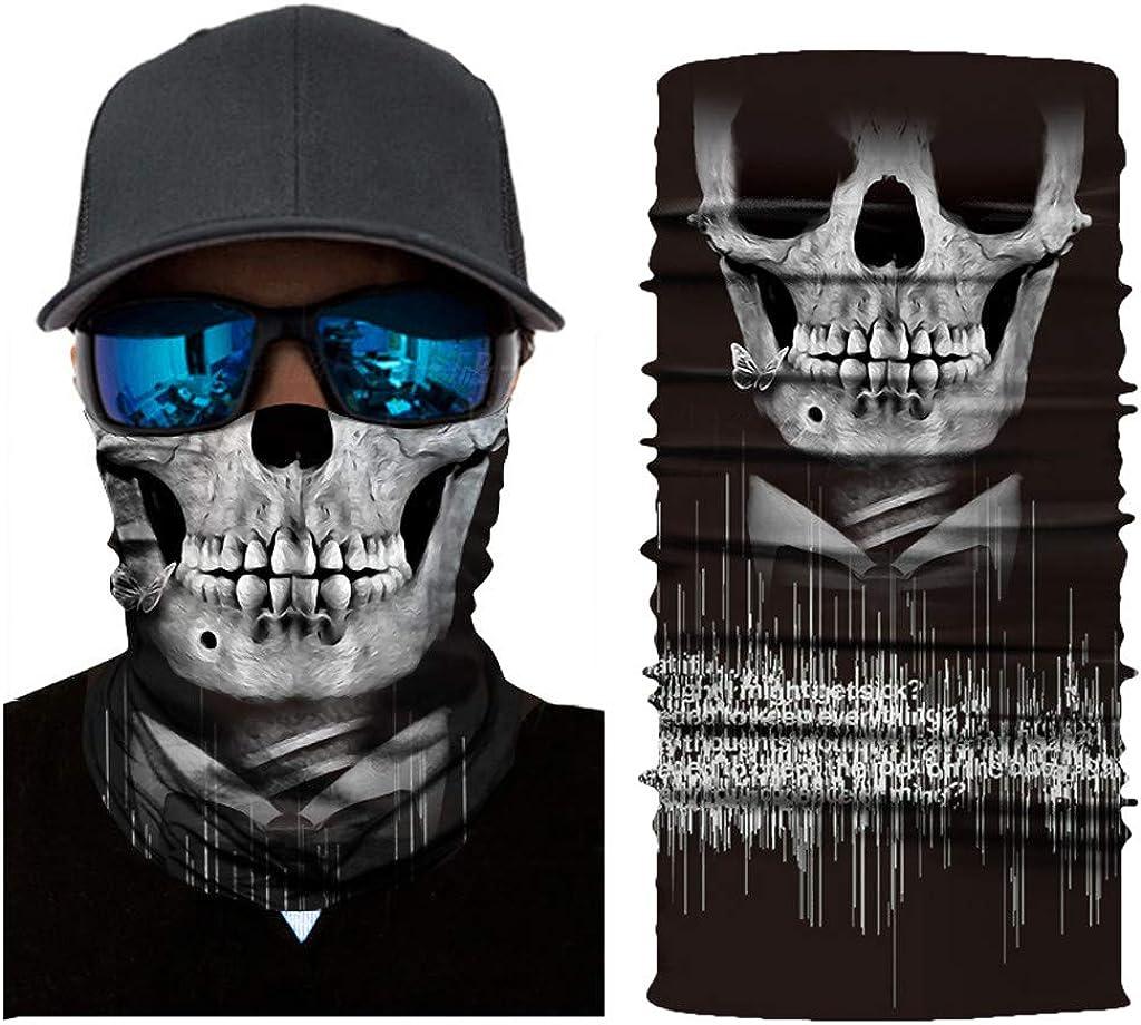 Wind Face Shield Amcool Multifunktionstuch Herren /& Damen Atmungsaktiv /& Schnelltrocknend Motorrad Gesicht Mundschutz Lustig Skull Maske Chopper Mund-Tuch Halsschlauch Halstuch mit Motiv