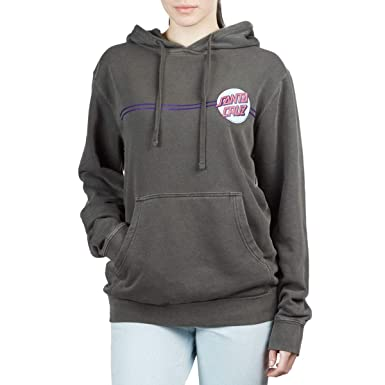 Santa Cruz Womens Other Dot Hoodie Pigment Black SM at