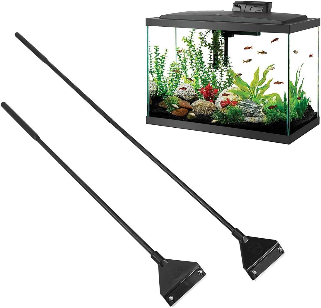 781E Aquarium Algae Seaweed Plants Clamp Clip Fish Tank Cleaning Tool Long