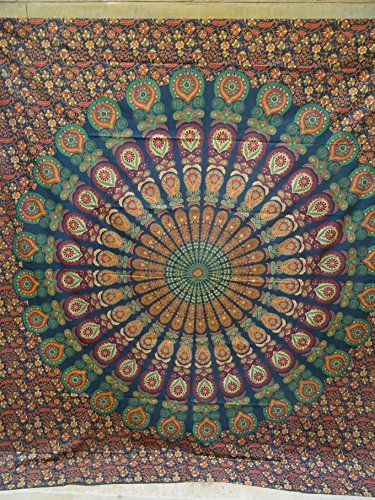 Bohemian Psychedelic Intricate Bedspread Thinking product image