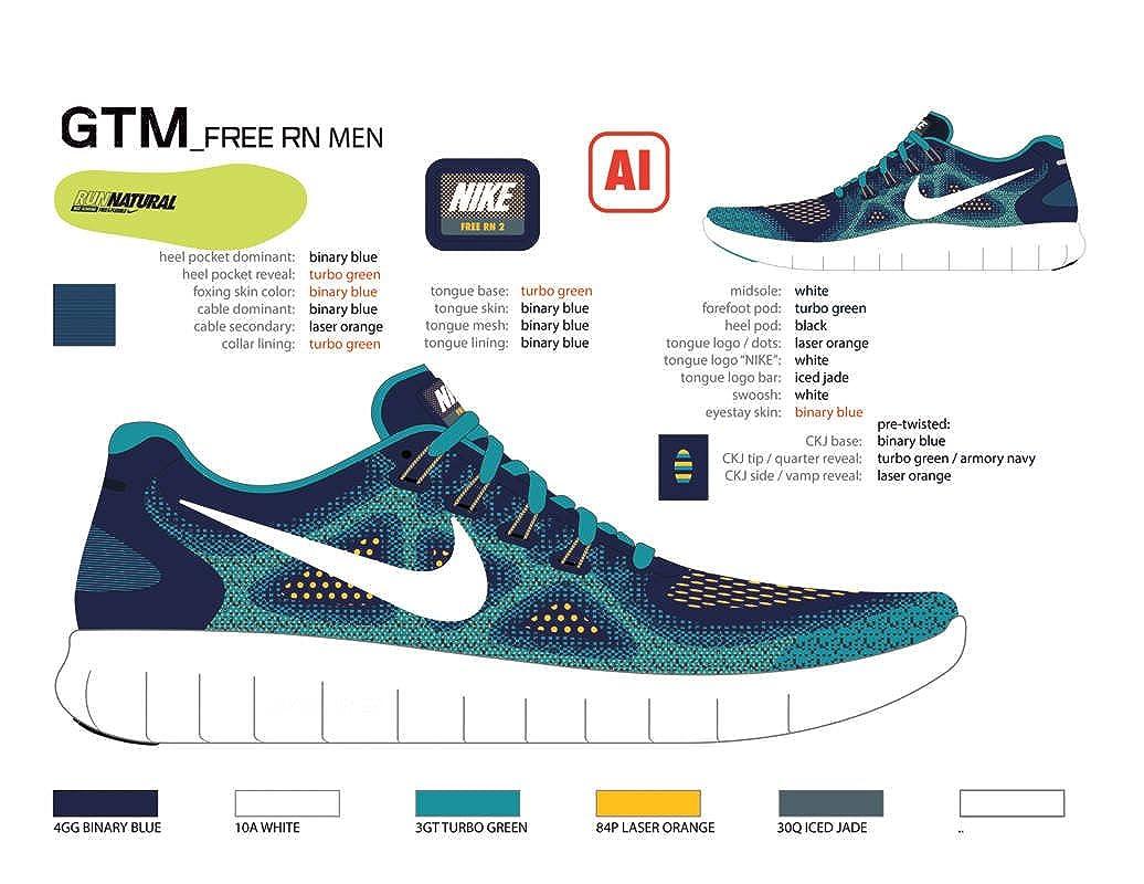 0b94456a66ad Nike Kids Free Rn 2017 (GS) Grey Blue Running Shoe (4.5 Kids US)   Amazon.ca  Shoes   Handbags