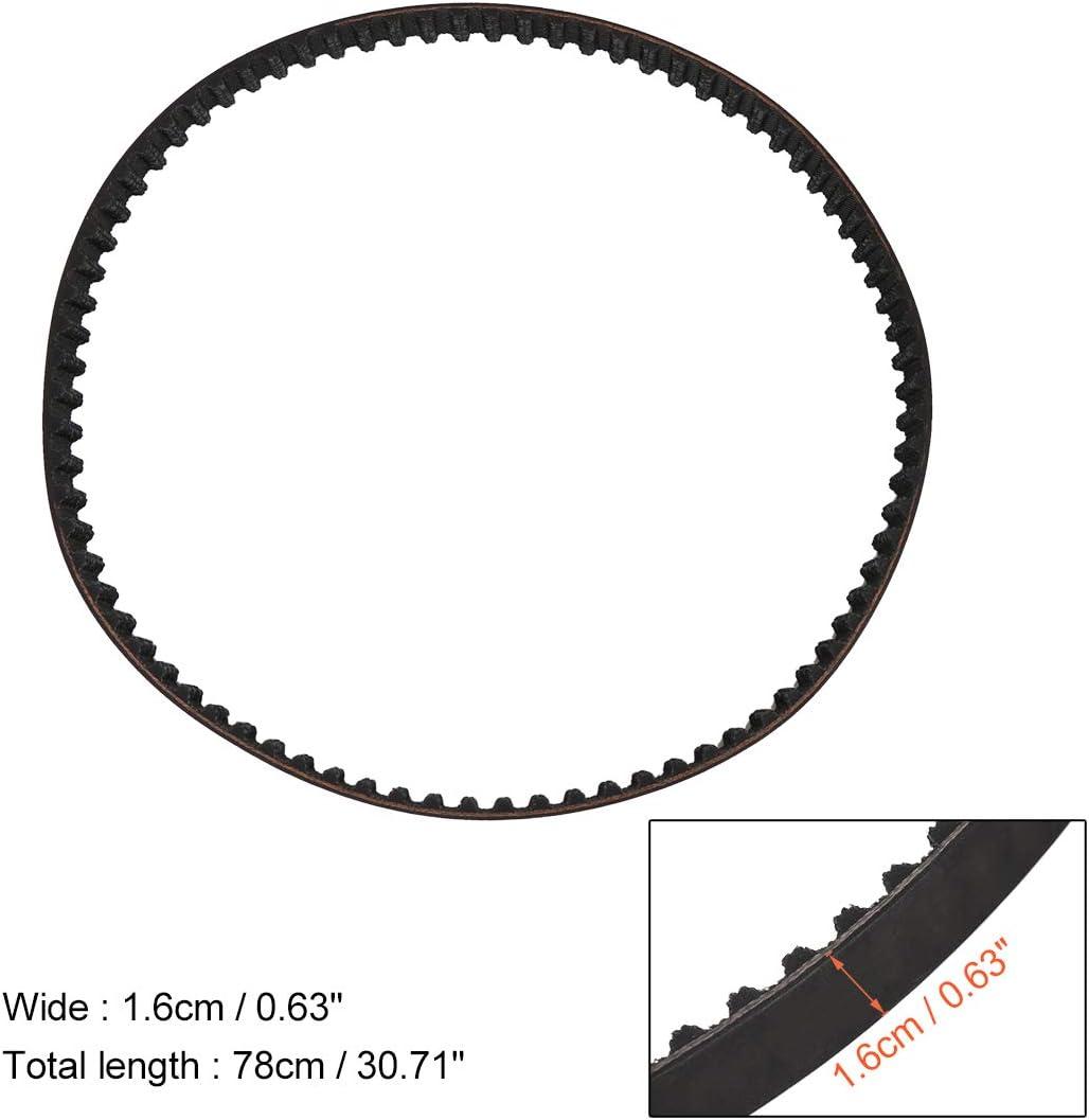 X AUTOHAUX 20297X16 Boat Engine Timing Belt Rubber 8M0065179 0.63 Inch Width