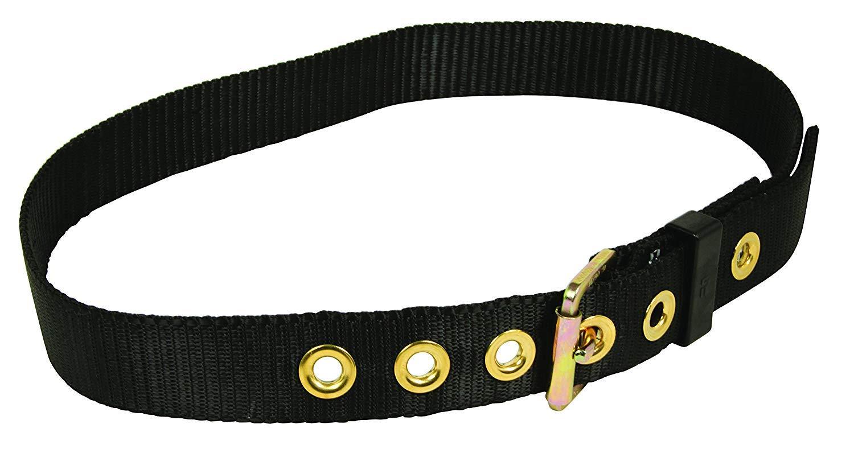 FallTech 7095M Heavy Duty Work Belt with 1-3/4-Inch Webbing, 7-Position Adjustment and Steel Buckle, Black, Medium