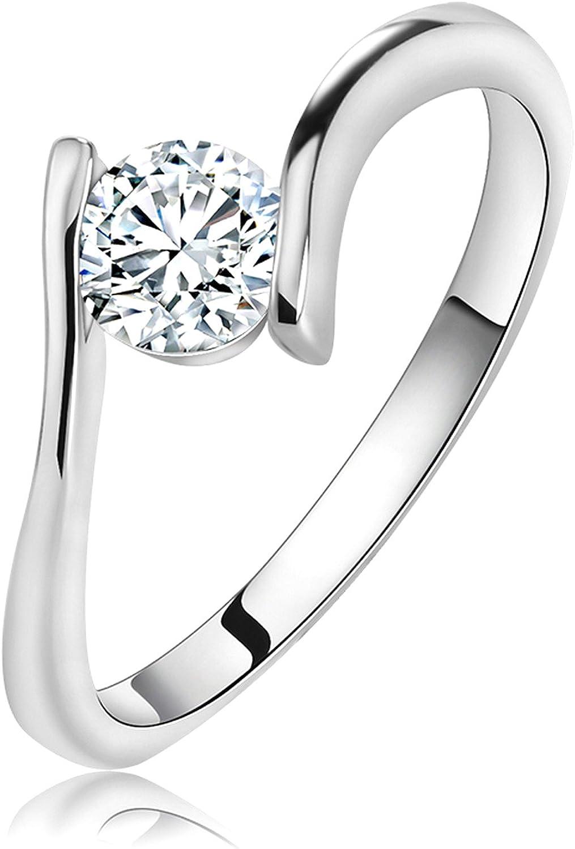 Slyq Jewelry Titanium Steel Finger Ring womens engagement rings