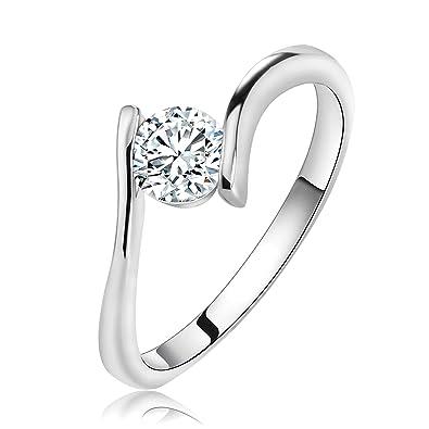 c1a8bcb0d36 Slyq Jewelry Simple Design Austrian Single Women sterling silver ...