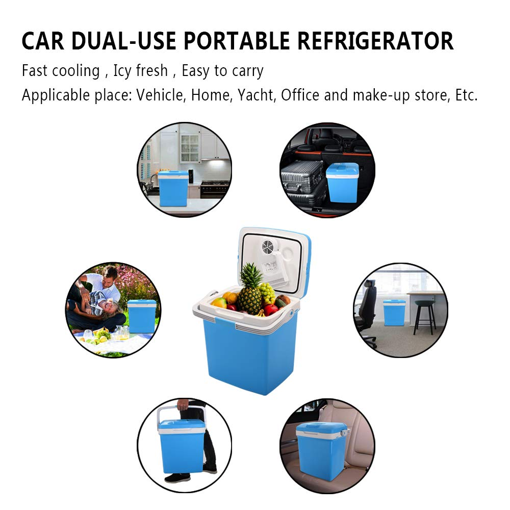 ZOKOP Electric Portable Fridge, Cooler & Warmer Refrigerator (26L) AC 120V/DC 12V Thermoelectric System, for Home, Office, Car, Picnic, Camping, Outdoor (Blue) by OLYM STORE (Image #7)