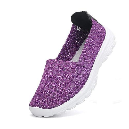 Zapatillas Mocasines Deportivos Respirable para Mujer,QinMM Malla elástico Sandalias Zapatos Alpargatas: Amazon.es: Zapatos y complementos