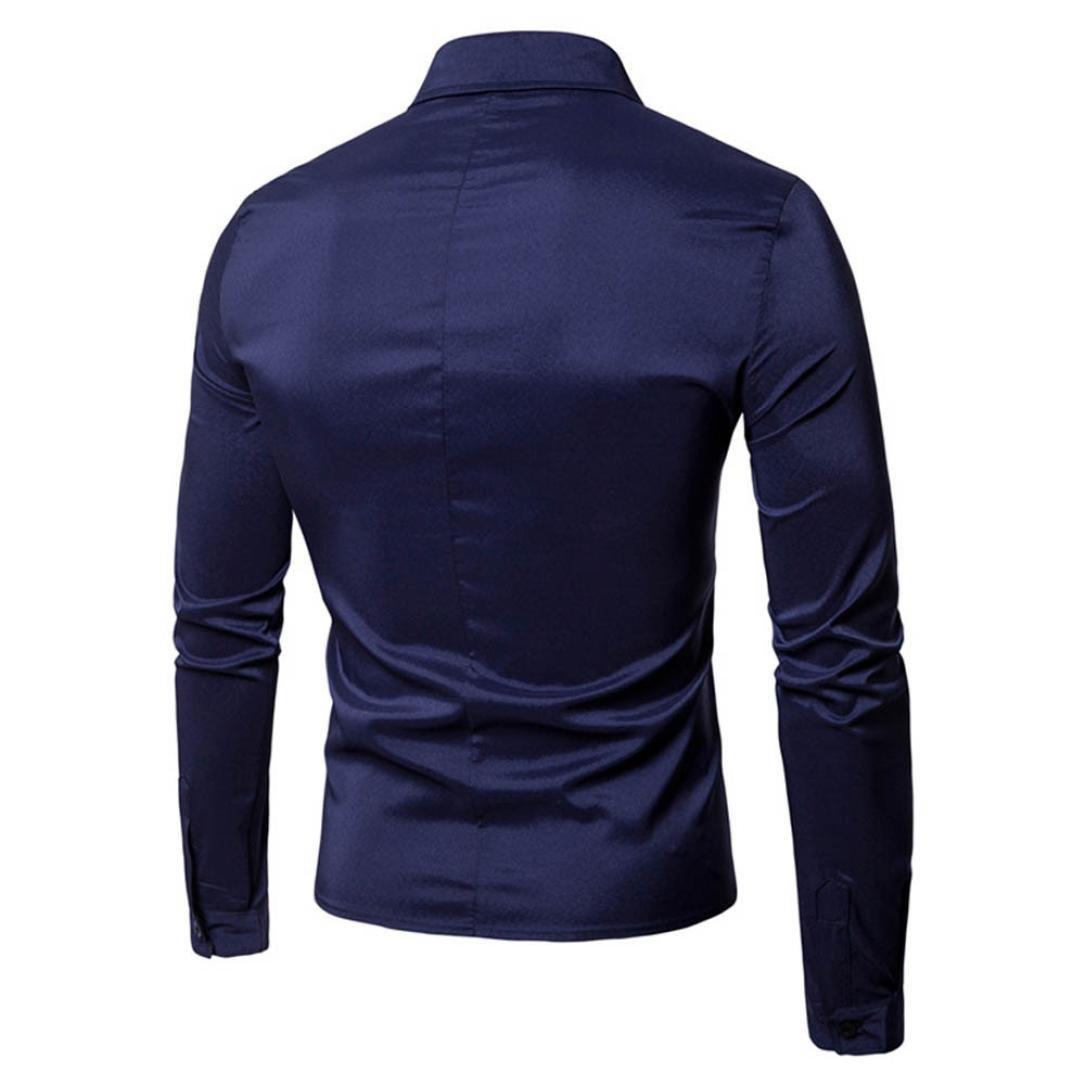 Camisa de Hombre Moda Personalidad Casual Delgado Manga Larga Sólido Básica Negocio Formal Tops Blusa Sudaderas con Capucha Camiseta para Hombre LMMVP: ...